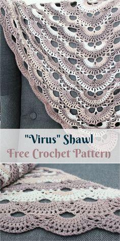 """Virus"" Shawl [Free Crochet Pattern] #crochet #fashion #crochetpattern #style"