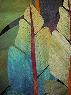 Night Jungle Detail - Betty Busby Art Quilts