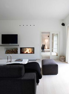 Lounge with fireplace.