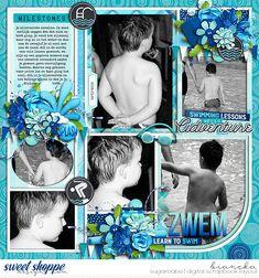 wendyp designs - learn to swim | bundle cindy schneider - mini album 5 addon | templates