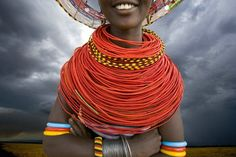 Africa | Young Samburu girl, Samburu National Park, Kenya.  Photo by Jim Zuckerman.