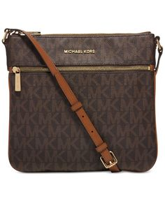 MICHAEL Michael Kors Bedford Flat Crossbody - Crossbody & Messenger Bags - Handbags & Accessories - Macy's