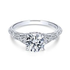 Chelsea Platinum Round Straight Engagement Ring
