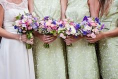 Bride & Bridesmaids bouquet | Photographed by Sussex Photographer FitzGerald Photographic