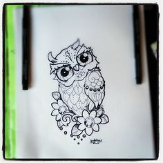 Done nice. Cute Owl Tattoo, Cute Tattoos, Body Art Tattoos, Small Tattoos, Owl Tattoo Design, Tattoo Designs, Buho Tattoo, Coloring Books, Coloring Pages