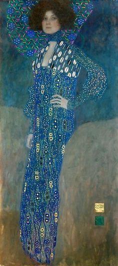 Bildnis der Emilie Flöge 1902 - Gustav Klimt Painting Gallery, Gustav Klimt, Arts Ed, Pretty Pictures, Vienna Secession, Fine Art Prints, Fan Gear, Charger, Muse