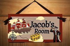 ArRrrG Matey Pirate Boys Bedroom DOOR SIGN