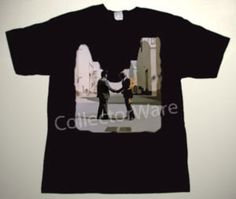 PINK FLOYD Wish You Were Here CUSTOM ART UNIQUE T-SHIRT    Each T-shirt is individually hand-painted, a true and unique work of art indeed!  To order this, or design your own custom T-shirt, please contact us at info@collectorware.com, or visit http://www.collectorware.com/tees-pinkfloyd_andrelated.htm