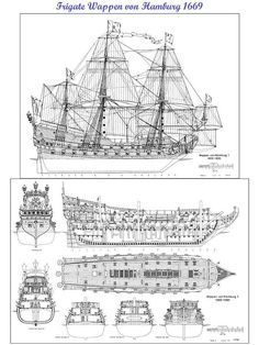 Handcrafted ship model of - WAPPEN VON HAMBURG warship convoy ship. Ship Model Plans , History and Photo Galleries. Ship Models of Famous Ships. Model Sailing Ships, Old Sailing Ships, Model Ships, Model Ship Building, Boat Building Plans, Rc Boot, Model Boat Plans, Ship Of The Line, Ship Drawing