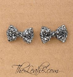Crystal Bow Studs Repin & Follow my pins for a FOLLOWBACK!