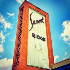 Vintage neon sign for Sunset Ridge Shopping Center in San Antonio, Texas by MOLLYBLOCK, via Flickr