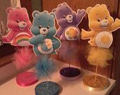 Set of 4 Care Bear Themed Birthday Party Centerpieces