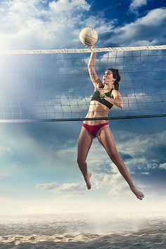 Beach Volleyball - great shot by Bruce Braxton Photography.