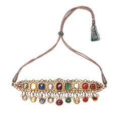 Bhagat navratna choker necklace