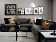 Dark Grey And White Living Room Ideas Picture For Walls 20 Rooms With Beautiful Use Of The Color News You Can 170 Fantastic Small Interior Apartment Https Www Futuristarchitecture