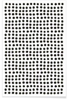 Ink Dots als Premium Poster von Maren Lösing   JUNIQE