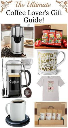 Great Gift Ideas for that Coffee Lover on your gift list! Coffee Lovers Gift Guide! #gifts