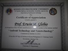 Prof erwin globios certificate of appreciation http erwin globios certificate of appreciation eglobiotraining yadclub Choice Image