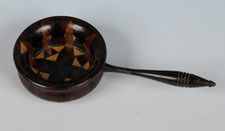 Tunbridge Ware Caddy Spoon (c. 1860 England)//  A tea caddy spoon with stick ware bowl and a turned ebony handle. Offered by Amherst Antiques //  Price  GBP 395.00 (Pound Sterling) - ⎬ ❖ Maria Elena Garcia -  ► www.pinterest.com/megardel/ ◀︎