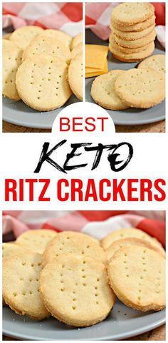 5 ingredient keto crackers that taste AMAZING! These low carb Ritz crackers came out so good! They really taste like Ritz crackers. Easy keto recipe for the BEST low carb crackers. You can eat these… Keto Foods, Ketogenic Recipes, Keto Snacks, Low Carb Recipes, Snack Recipes, Ketogenic Diet, Dinner Recipes, Chili Recipes, Smoothie Recipes