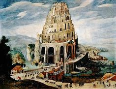 Grimmer, Abel - The Tower of Babel - Renaissance (Late, Mannerism) - Oil on wood - Old Testament