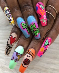 n a i l s nails, acrylic nails и gel nails Best Acrylic Nails, Matte Nails, Nail Swag, Fabulous Nails, Gorgeous Nails, Dope Nails, Fun Nails, Uñas Color Neon, Nagel Bling