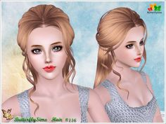 B-fly back braided hair 116 by YOYO - Sims 3 Downloads CC Caboodle