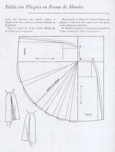 Resultado de imagen para elegante falda con cola de abanico
