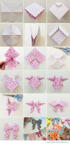 折り紙リボン | ほっぺ印