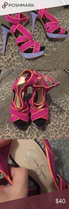 Jessica Simpson Heels Super cute- worn once Jessica Simpson Shoes Heels