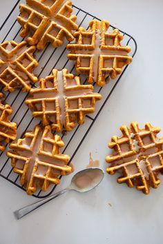 Decadent Pumpkin Spice Latte Waffle Doughnut - Fresh Mommy Blog