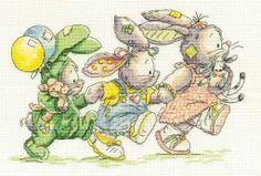Somebunny to love bunny bunch cross stitch pattern