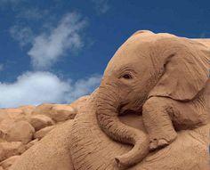 Amazing Sand Art Elephant
