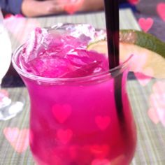 Birthday drink with my Hotstuff ;) prickly pear margarita at Nectar Restaurant at the Hilton Santa Rosa