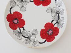 China Painting, Marimekko, Household, Textiles, Kitchen Stuff, Cutlery, Tableware, Dish, Design