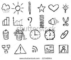 Sketch icons (Set 2) by Vinata, via ShutterStock
