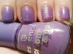 Purple Prettiness - essence polish with glitter accent by sally hansen