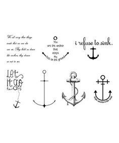 Look what I found on #zulily! Anchor Temp Tattoos - Set of Two by Tattify #zulilyfinds $11
