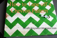 How to tape off a chevron pattern - FINALLY
