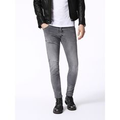 Diesel SLEENKER 0672J Skinny ($139) ❤ liked on Polyvore featuring men's fashion…