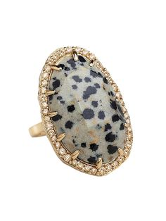 Phillips Frankel 14k Yellow Gold Oval Jasper and Diamond Ring at London Jewelers!