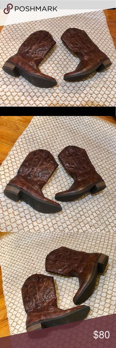 Cherokee Chestnut Brown Cowboy Boots Cherokee Chestnut Brown Cowboy Boots!! 👢 👢 Size 4 (Woman's 6). New! Adorable and stylish. Very comfortable and cute! Cherokee Shoes