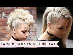 Twist Mohawk VS. Side Mohawk by SweetHearts Hair - YouTube