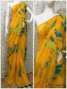 Nazneen chiffon sarees without blouse Silk Saree Blouse Designs, Blouse Patterns, Chiffon Saree, Saree Dress, Chanya Choli, Plain Saree, Simple Sarees, Blouse Models, Elegant Saree