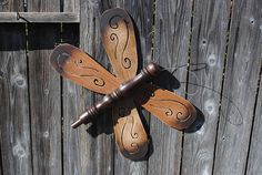 Fan Blade Dragonfly, Butterfly or Insect. You decide.. $29.00, via Etsy.