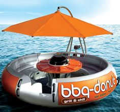 BBQ Donut Boat ! Seriously?  I say we get this for when the Gallaghers come for 4th of July !