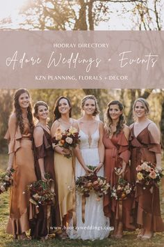 Adore Weddings and Events is a KZN based Wedding Planning, Styling, Floral Design and Décor Hire company. Adore specializes in working with our clients to curate a visual story and sensory experience that is unique to each couple, and reflects both their lifestyle and love story. #southafricanweddings #hooraydirectory #durbanweddingvendors #weddingplanning #weddinginspo #hoorayweddings Wedding Vendors, Wedding Events, South African Weddings, Sensory Experience, Bridesmaid Dresses, Wedding Dresses, Love Story, Your Hair, Floral Design