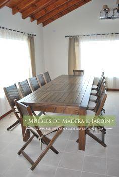 Mesa y sillas para quinchos muebles de jardin for Sofas de madera para jardin