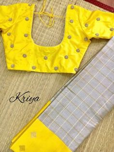 Pattu Saree Blouse Designs, Simple Blouse Designs, Blouse Back Neck Designs, Fancy Blouse Designs, Bridal Blouse Designs, Designer Blouse Patterns, Amai, Sumo, Sarees