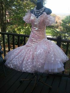 VINTAGE 80s PROM PARTY DRESS LORALIE BACHELORETTE BEST IN SHOW S